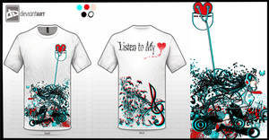 :: Listen to My Heart T-Shirt Design  ::