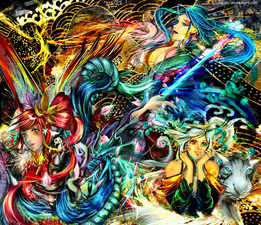 :: Oriental Guardians :: by Sangrde