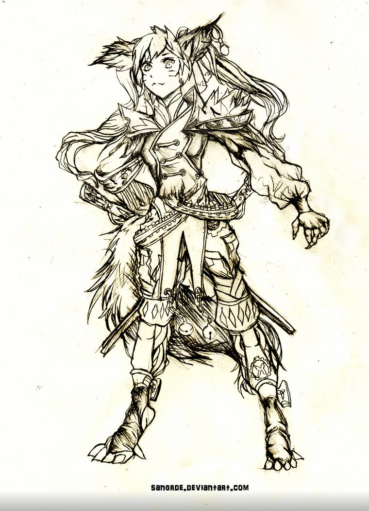 Gunner Concept Art by Sangrde