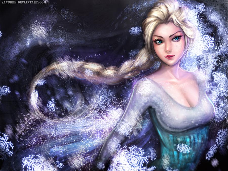 ___elsa_the_snow_queen_wallpaper____by_s