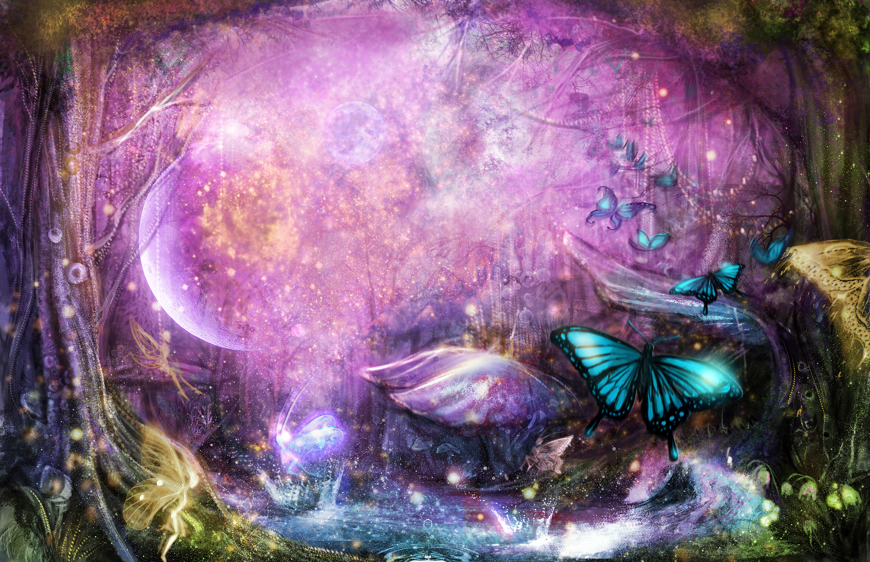 :: Enchanted Fairy Forest :: by Sangrde