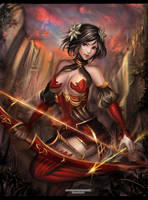 :: Oriental Archer Lady :: by Sangrde