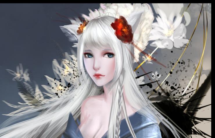 Kitsune WIP by Sangrde