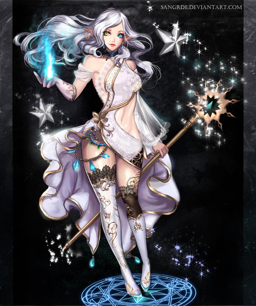 CLOSED :: Starlight Sorceress Adoptable :: by Sangrde