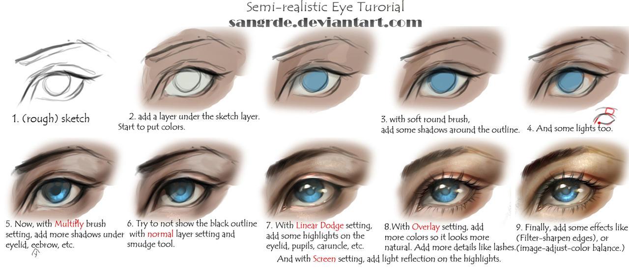 :: Semi-realistic Eye Tutorial ::