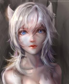 :: Snowfox Ahri Portrait ::
