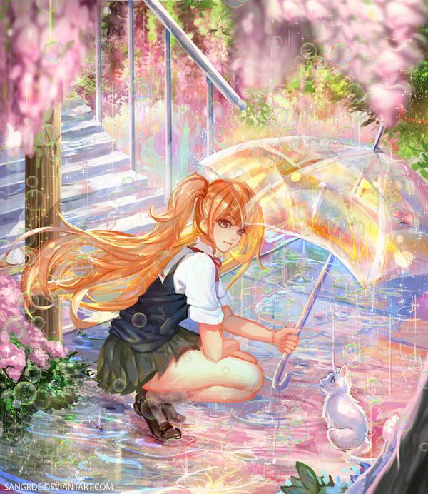 :: Sharing an Umbrella ::