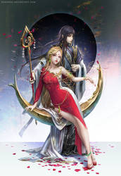 :: Amaterasu and Tsukuyomi :: by Sangrde