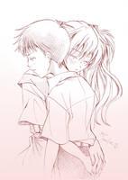 Asuka and Shinji by sabo-p