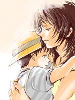 YUI and SHINJI by sabo-p