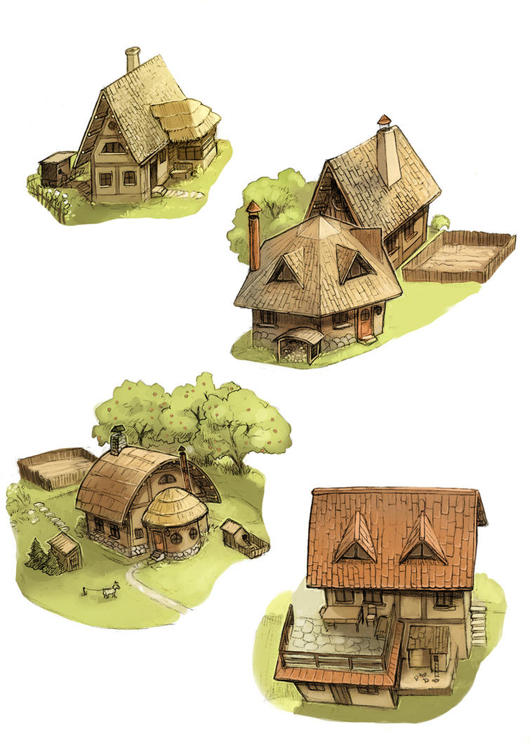 Small houses by Yonetee