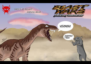 Beast Wars Rattrap and Dinobot