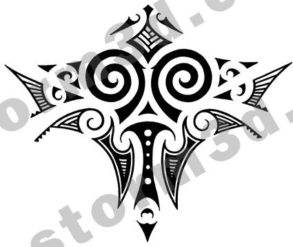 Maori tattoo design back - shoulder tattoo