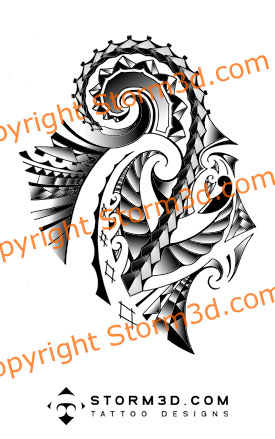 Shoulder Maori tattoo design - shoulder tattoo