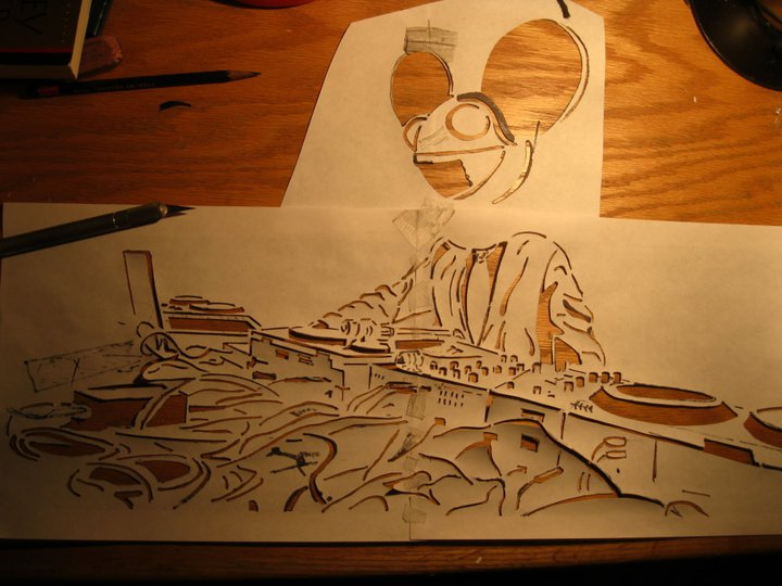 deadmau5 stencil by A-Daft-Oppo