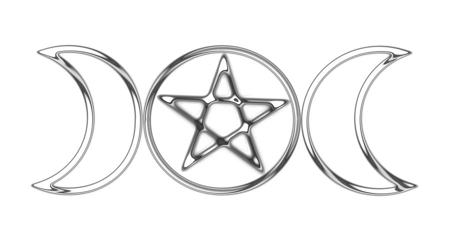 Metallic Wiccan Triple Goddess symbol by shaktya on DeviantArt