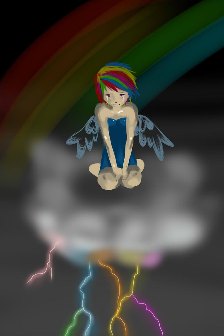 Human Rainbow Dash by veerlez