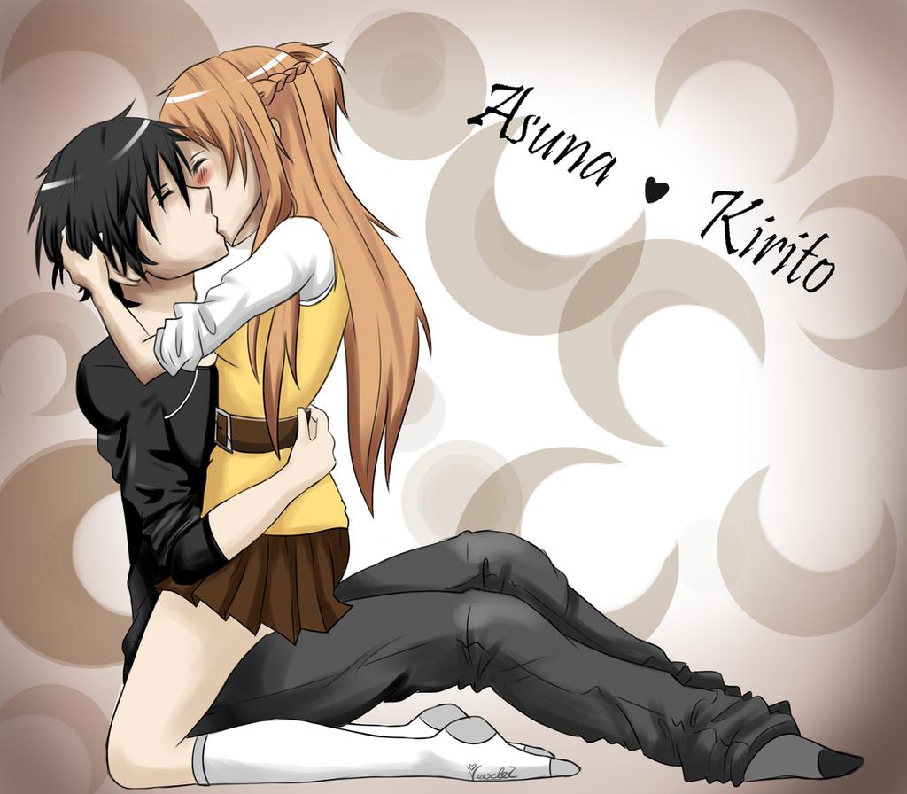 Asuna and Kirito by veerlezKirito And Asuna