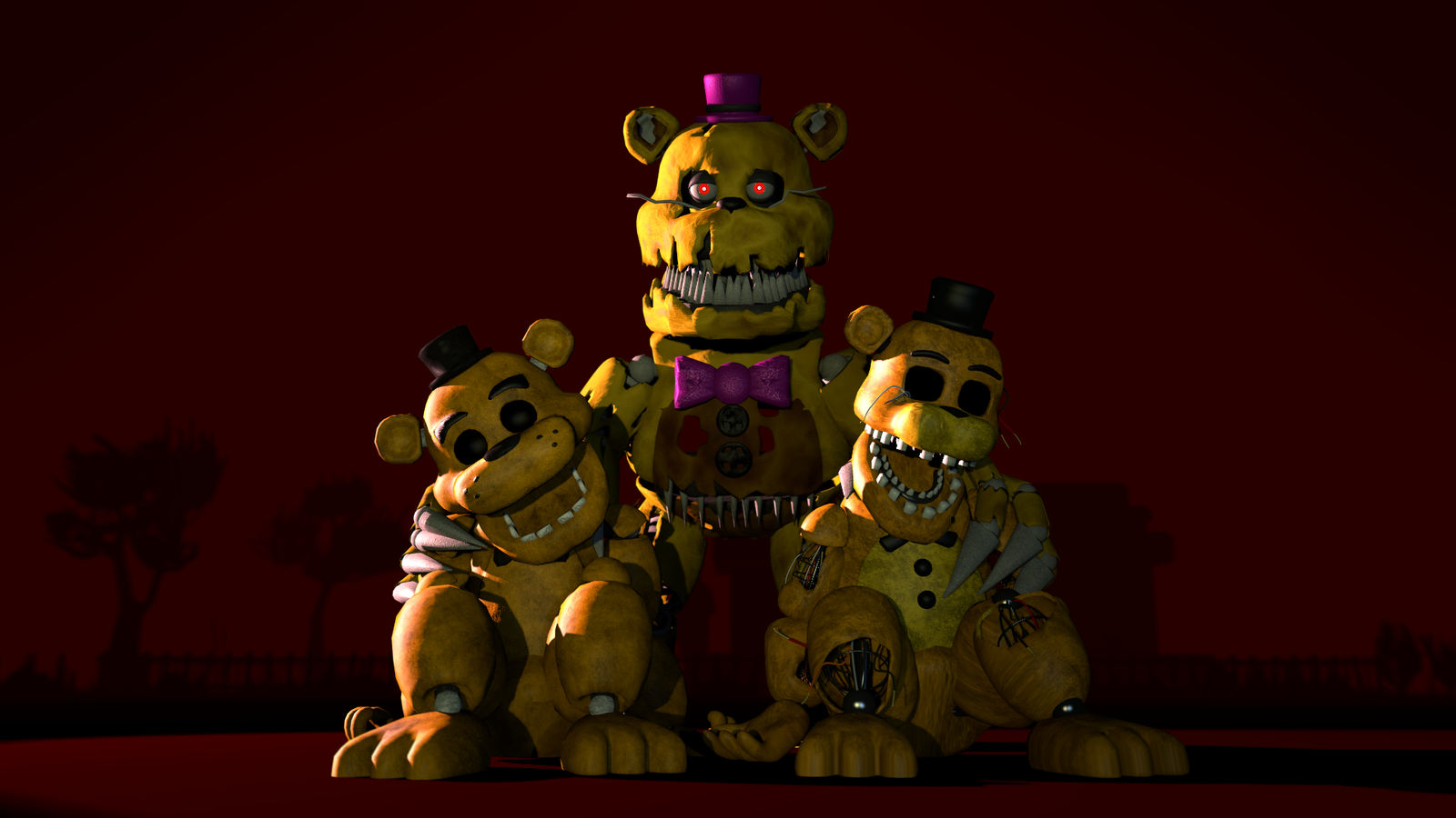 Fred, Fredd, and Fredbear by ImpRegnius on DeviantArt
