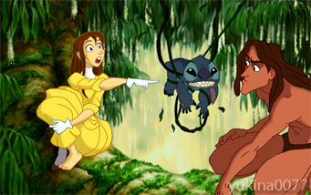 Stitch meets Tarzan by yukina0077