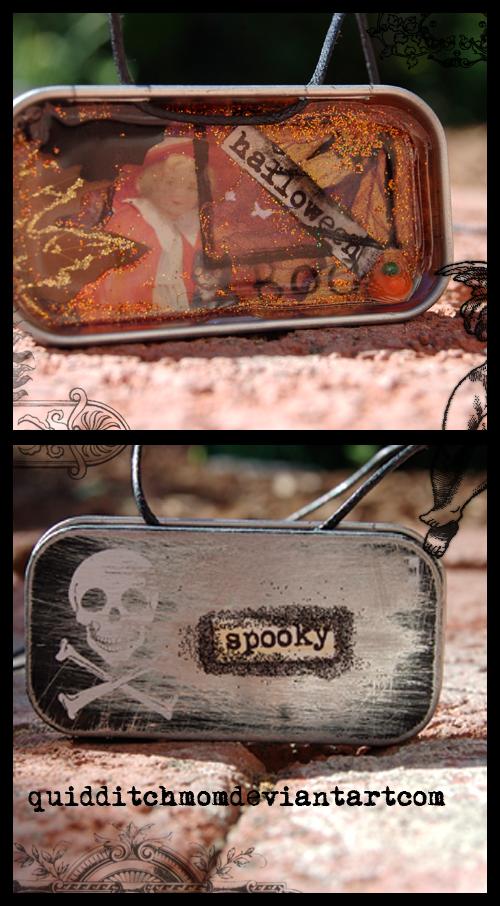 halloween shadowbox charm by quidditchmom