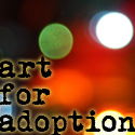 Art for Adoption Button by quidditchmom