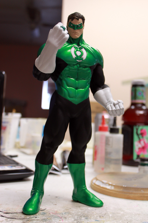 Green Lantern paint WIP by DrFrankenSeuss