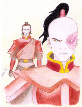 Zuko and Zhao in color