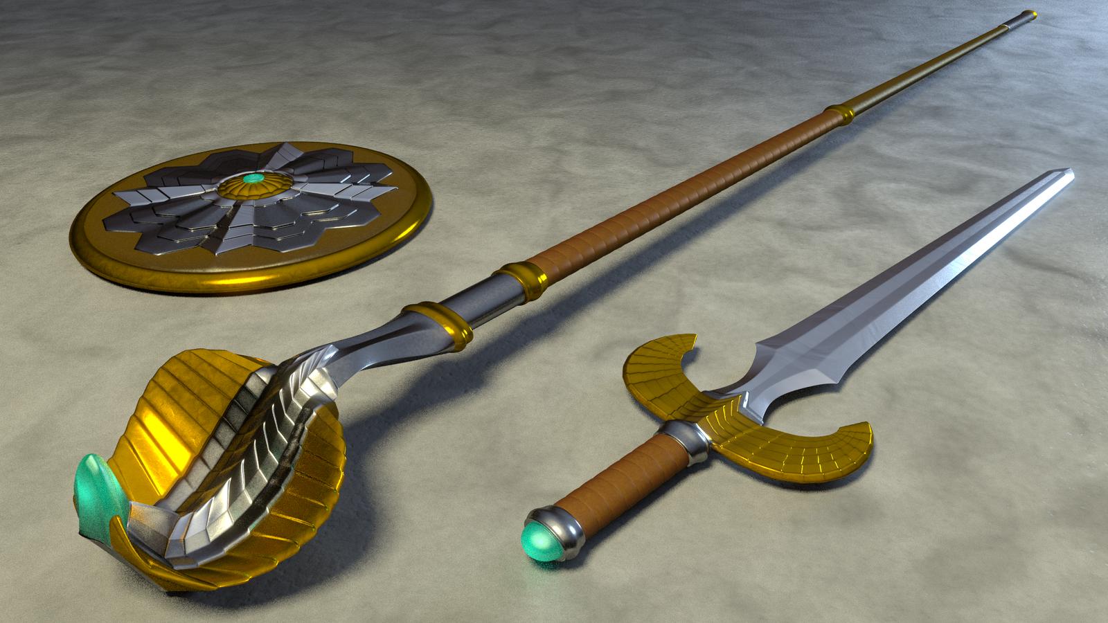 MOTU - Teela's Weapons 2 by paulrich
