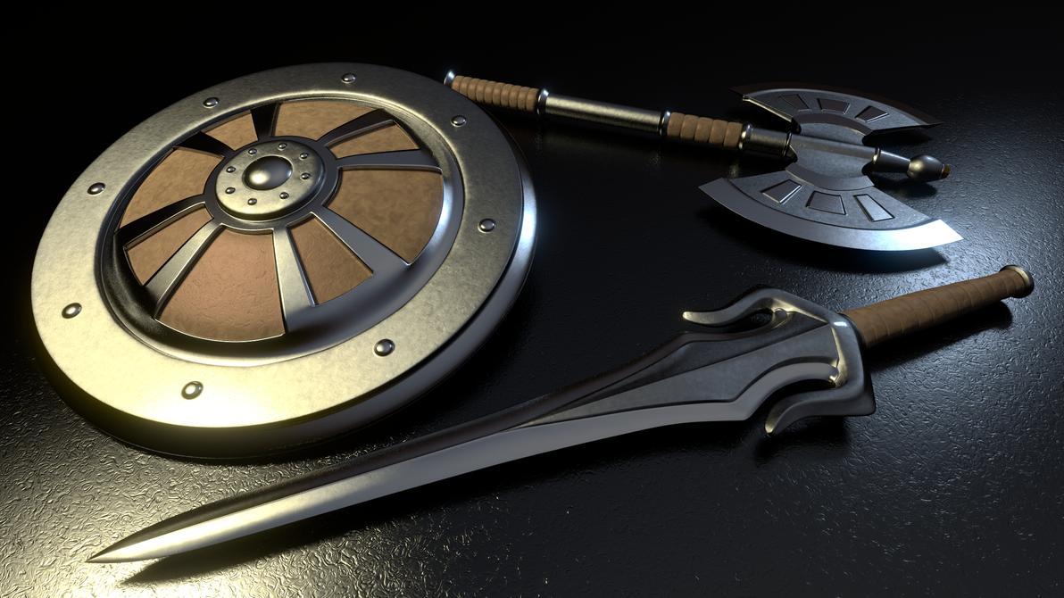MOTU - He-Man's Weapons 2 by paulrich