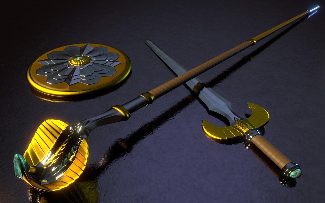 MOTU - Teela's Weapons 3 by paulrich