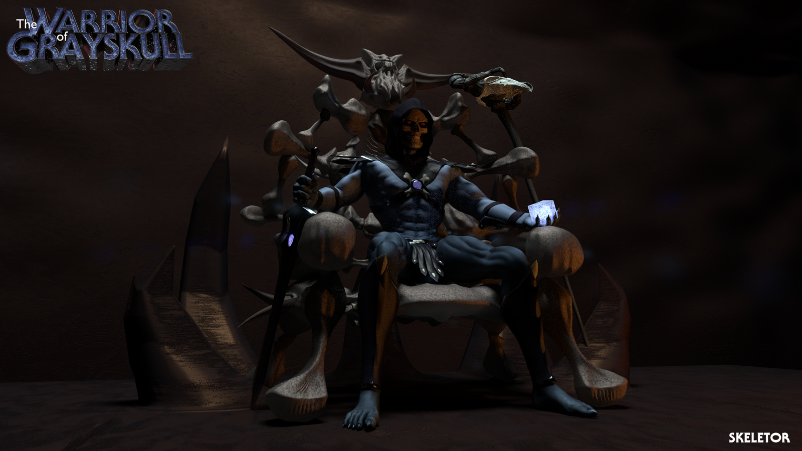 MOTU - Skeletor Enthroned 1 by paulrich