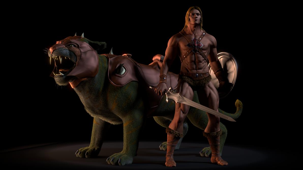 MOTU - He-Man and Battle Cat - 1 by paulrich