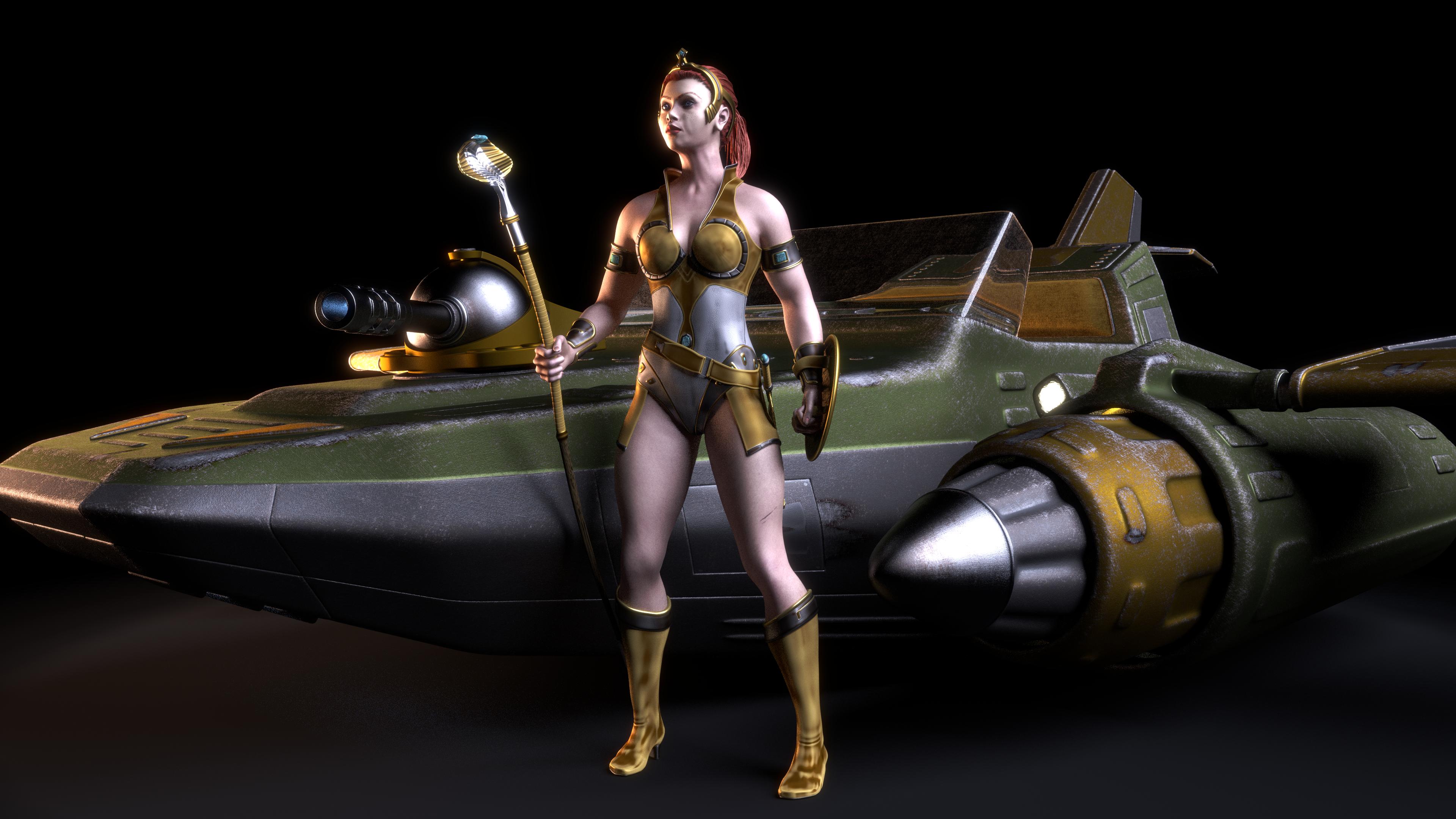 MOTU - Teela and the Wind Raider 2 by paulrich