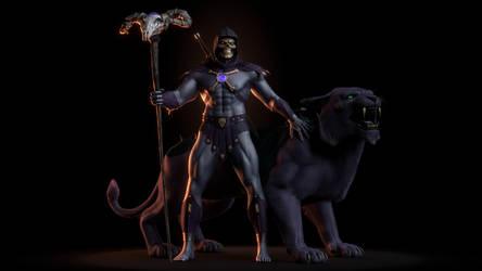 MOTU - Skeletor III with Panthor -1