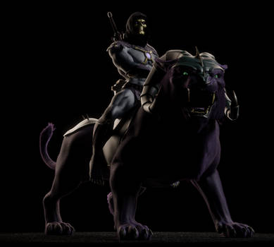MOTU - Skeletor III on Panthor - 1