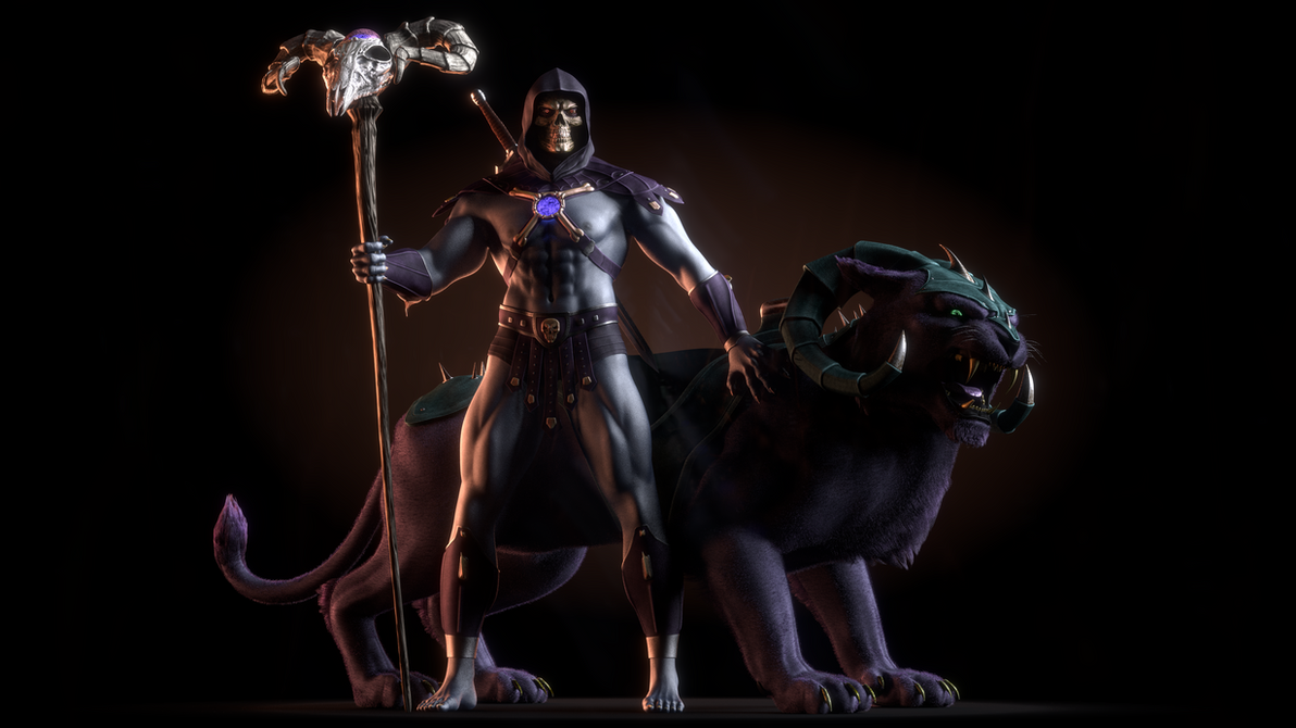 MOTU - Skeletor III with Panthor - 2 by paulrich