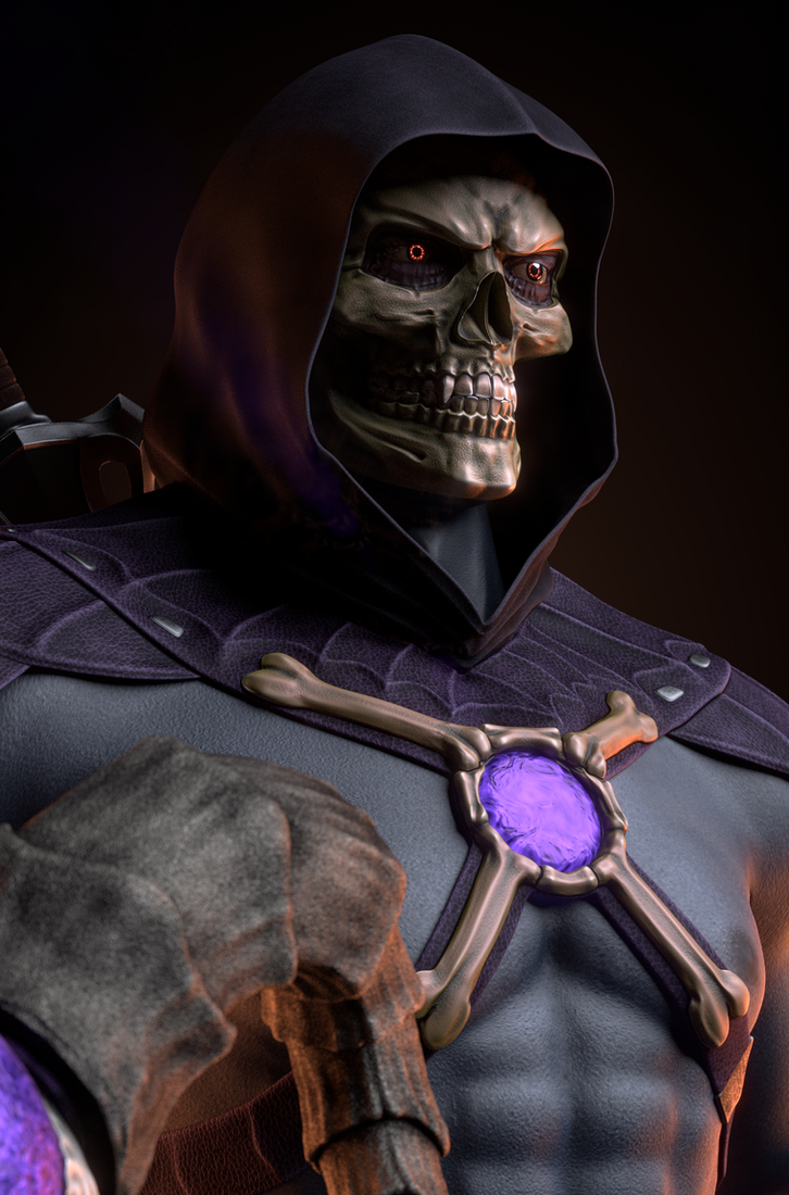 MOTU - Skeletor III - Close-up 2 by paulrich