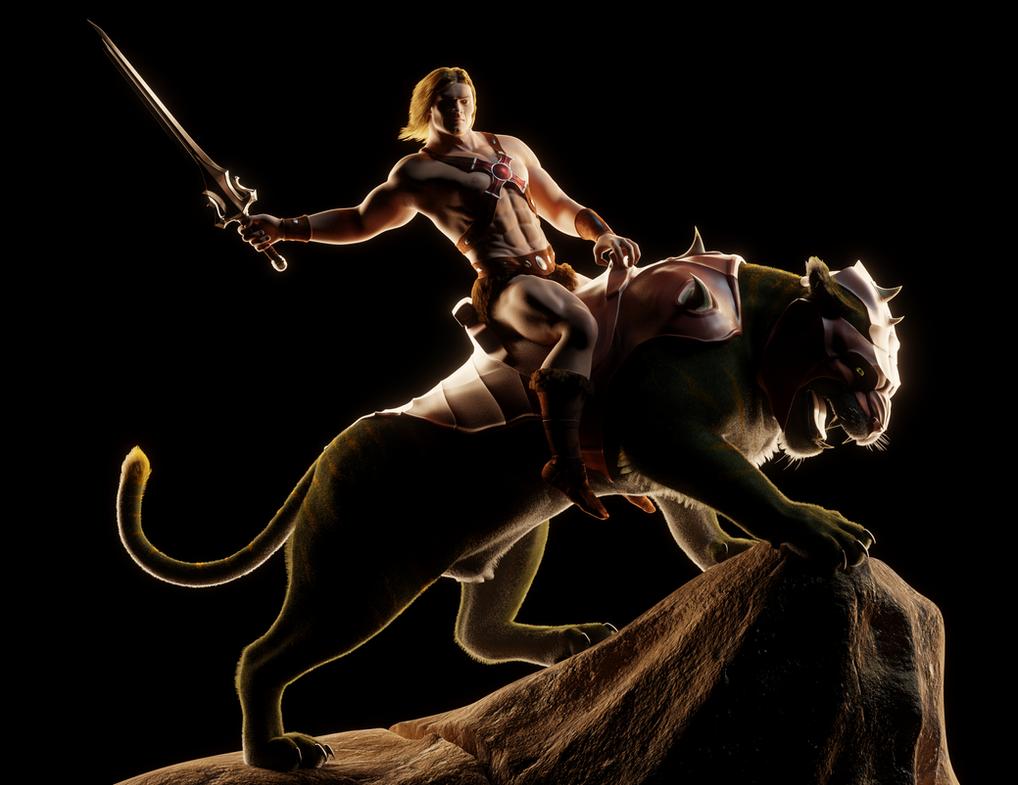 MOTU - He-Man on Battle Cat - 3 by paulrich