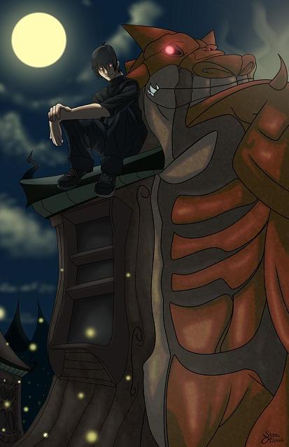 Ryu Watching Angel Falls