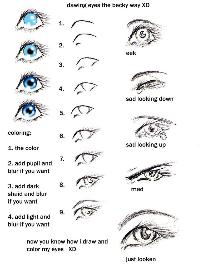 How To Draw Eyes My Way Heehee By Gabrielleswings