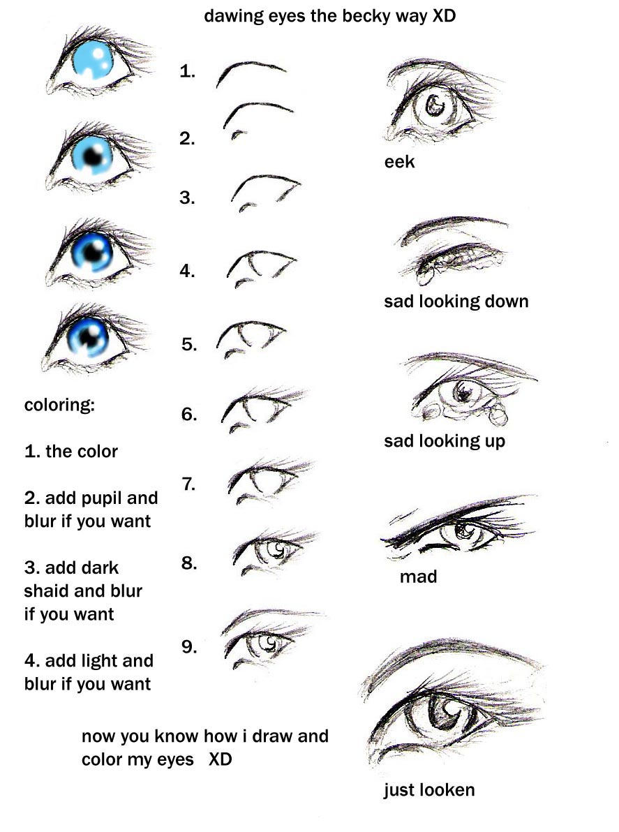 how to draw eyes my way heehee by GabriellesWings on DeviantArt: gabrielleswings.deviantart.com/art/how-to-draw-eyes-my-way-heehee...