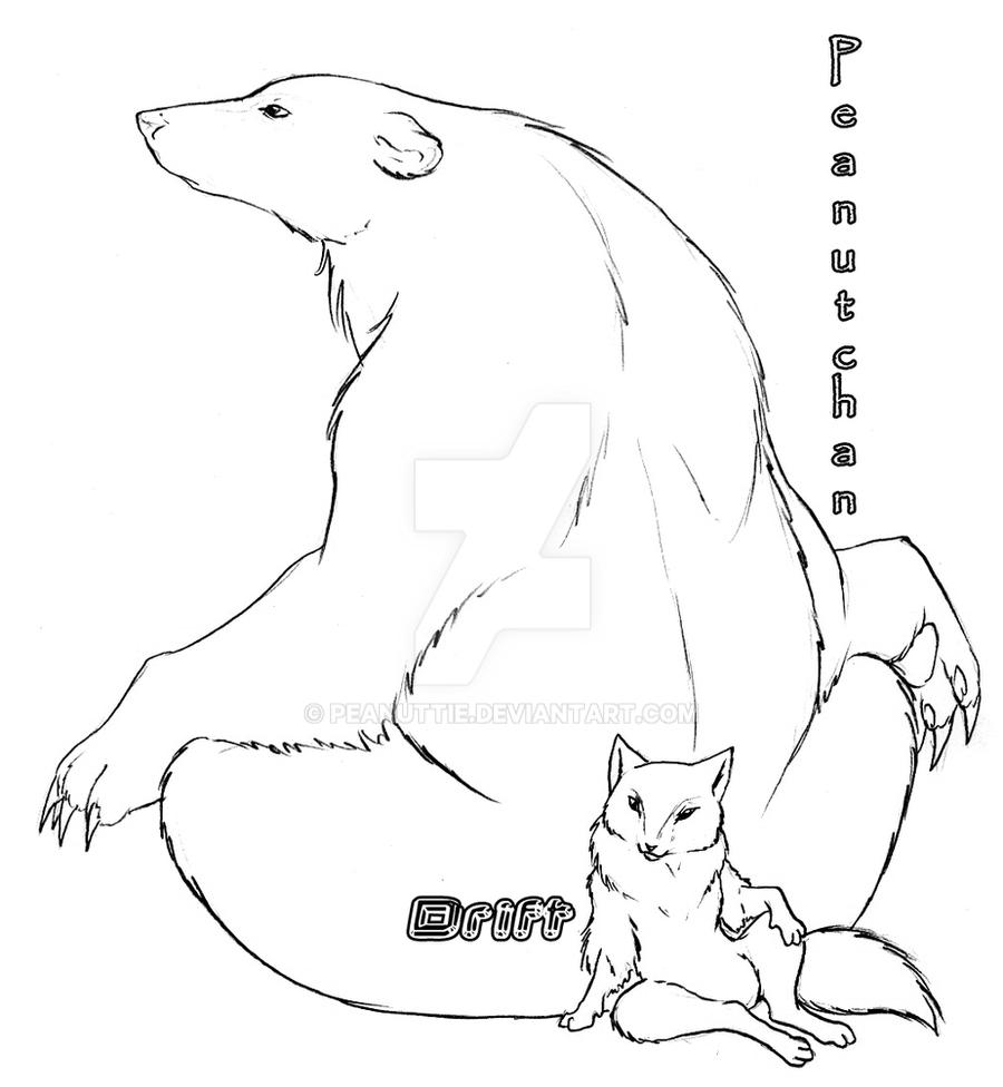 characters polar bear fox by peanuttie on deviantart