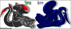 Syrus and Leo Chibis