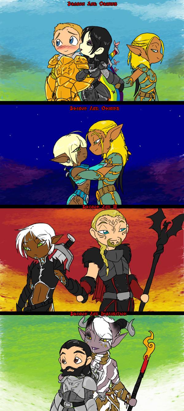 Dragon Age Couples by peanutchan