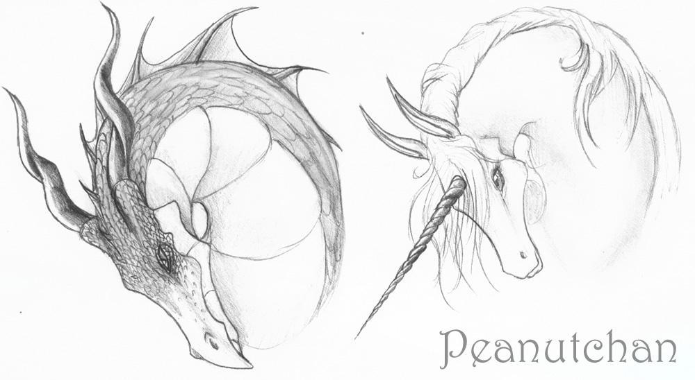 :Dragon-Unicorn: by peanutchan