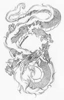 :Japanese Dragon: by Peanuttie