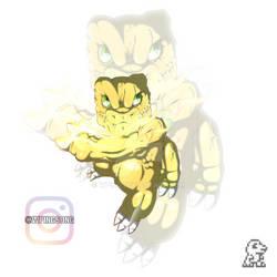 Agumon - Digimon Tamagotchi Gen.1 by Wping