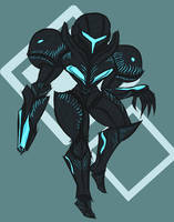 Metroid- Dark Samus! by piktips