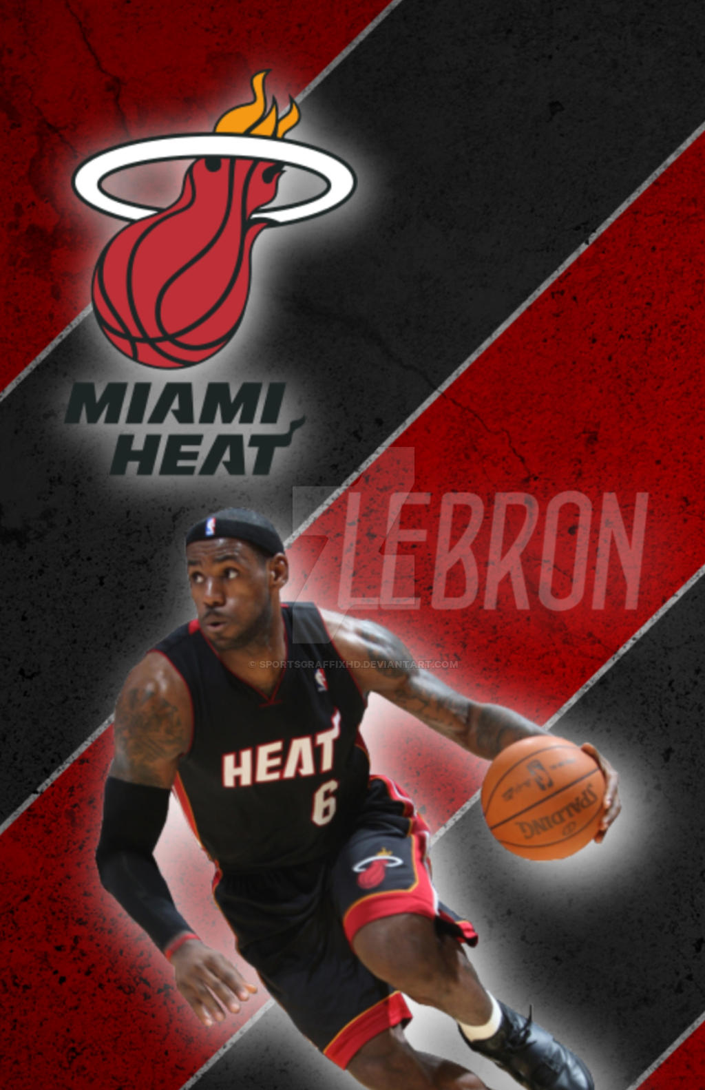Lebron James Iphone Wallpaper By Sportsgraffixhd On Deviantart